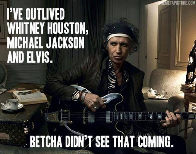 Keith Richards longevity
