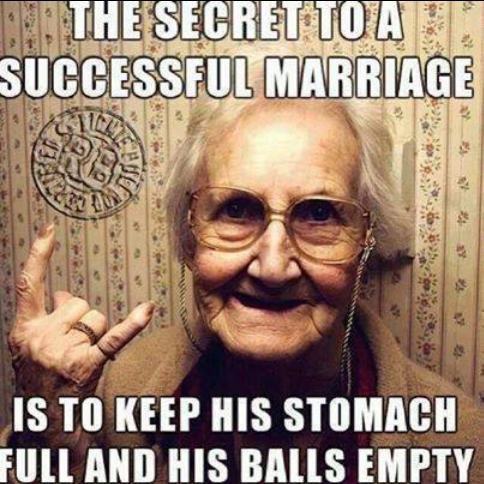 The secret to a successful marriage